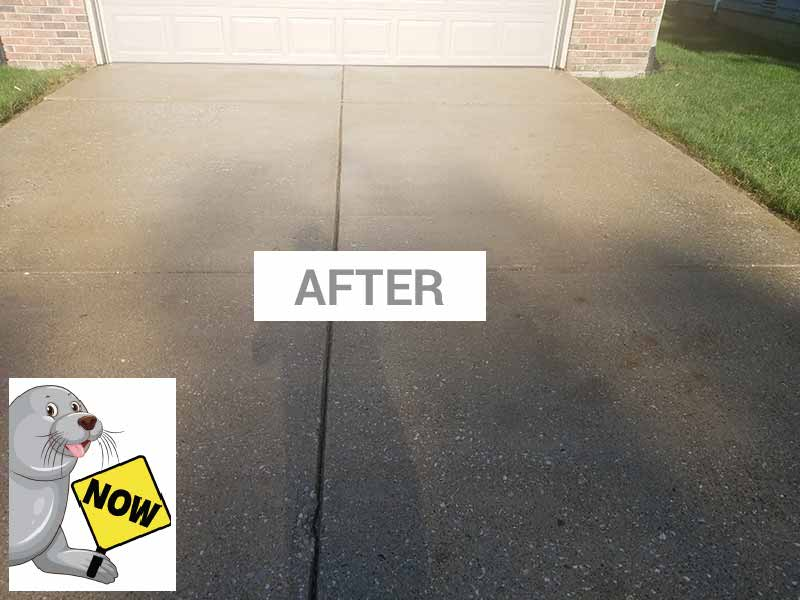 After sealing a driveway