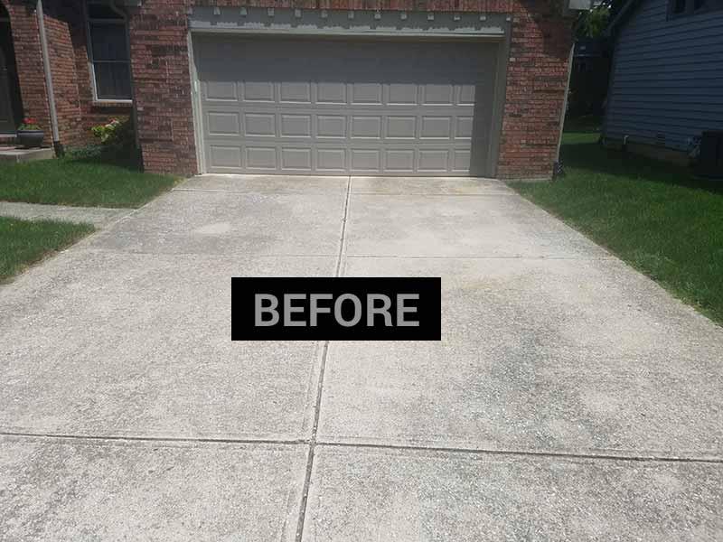 Before sealing a driveway