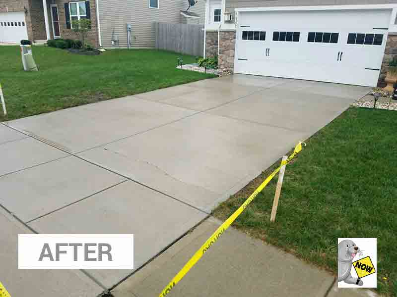 After Concrete Seal