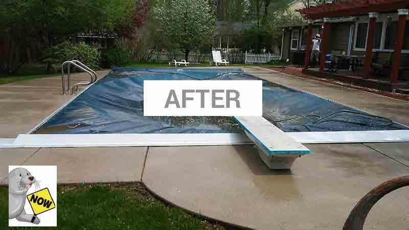 pool-after concrete sealing