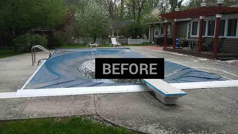 pool-before concrete sealing